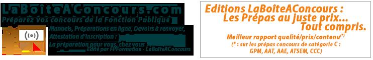 La Boîte A Concours Fonction Publique 2019/2020