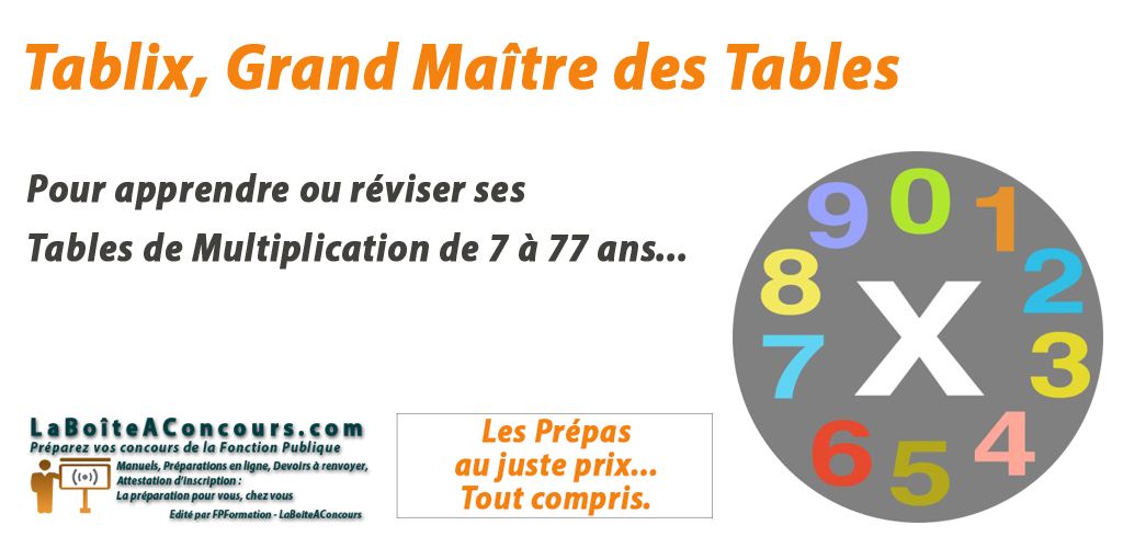 Apprendre ses Tables de Multiplication